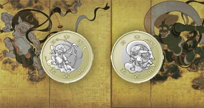 東京オリ・パラの記念貨幣第4弾のデザインが「風神雷神図屏風」に決定!