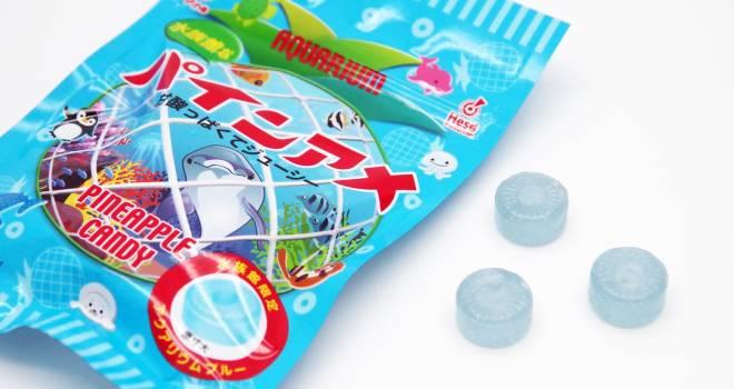 ロングセラー飴ちゃん!爽やかなアクアブルーのパインアメが全国の水族館限定で新発売