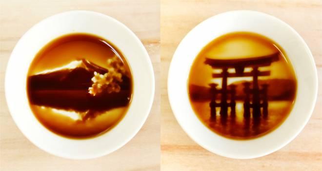 美しすぎます!醤油を注ぐとセピア写真のような絵柄が浮かび上がる「フォトリアル醤油皿-enman-」