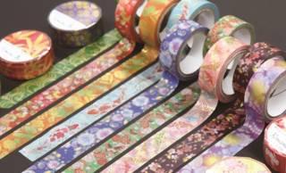 友禅柄やレトロモダンなど、国産和紙の華やかな和柄マスキングテープが素敵!