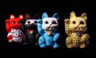 ラメラメな招き猫も!忍者やディスコがモチーフの斬新デザインな「木目込招き猫」が可愛い!