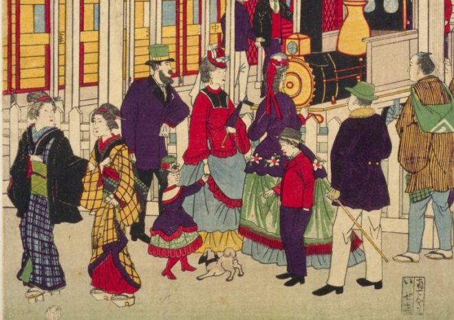 どの男子が好み?明治時代の様々な男性の服装を描いた「開化好