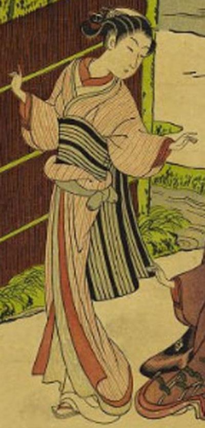 風俗四季哥仙 竹間鶯(左部分)