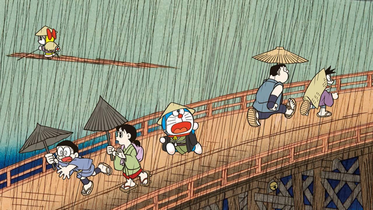 ドラえもんファミリーが歌川広重の世界に!「ドラえもん浮世絵」シリーズに新作登場