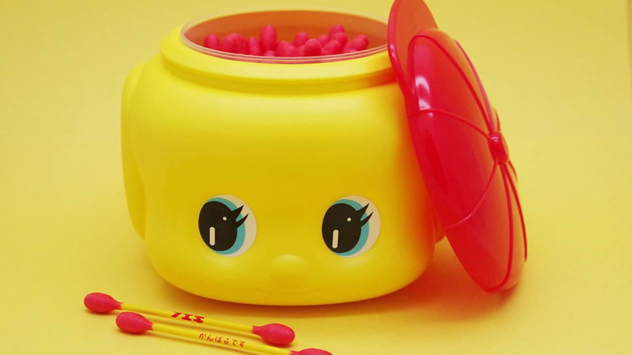 買うわこんなん♡レトロ可愛い「フエキどうぶつ糊」の容器モチーフの綿棒が新登場!