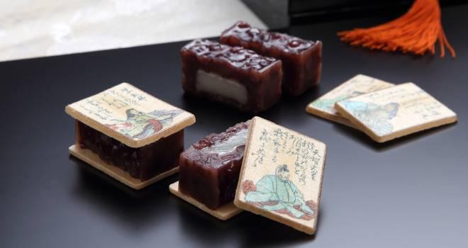 百人一首の絵札をあしらった和菓子「あも歌留多」がステキ!最中種の単品販売もあり