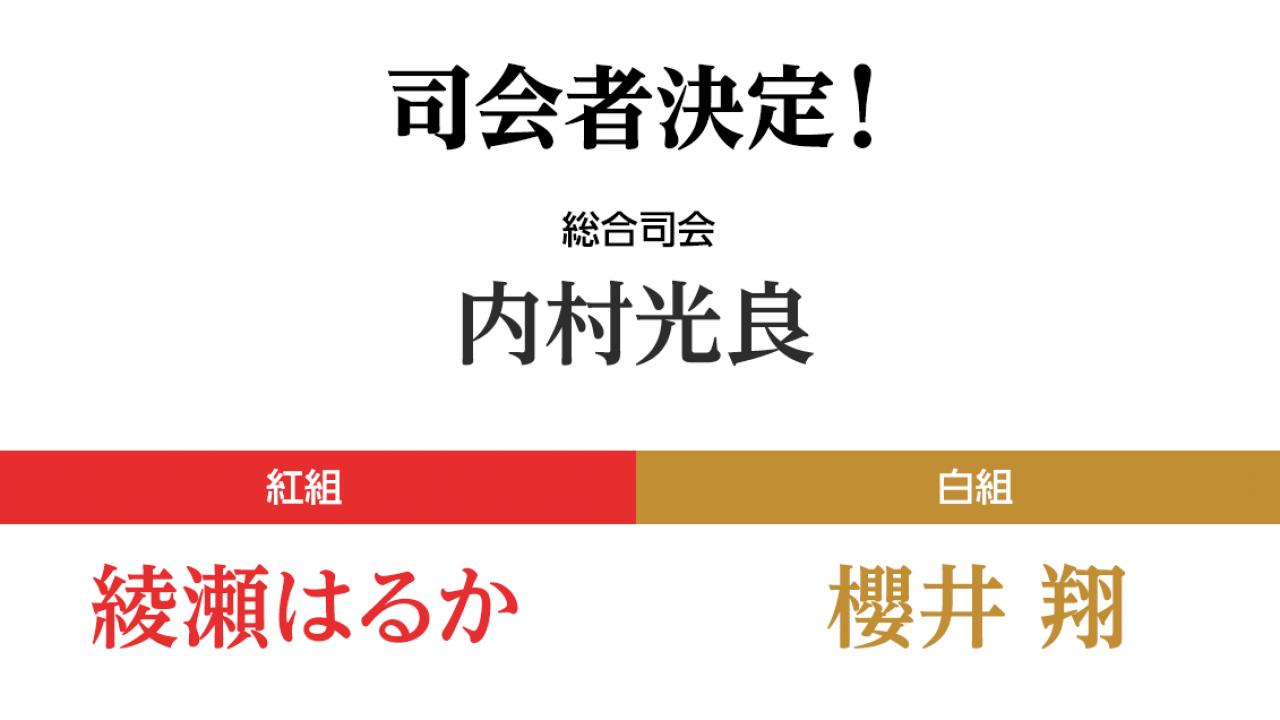総合司会は3年連続で内村光良!第70回 NHK紅白歌合戦の司会者が発表!