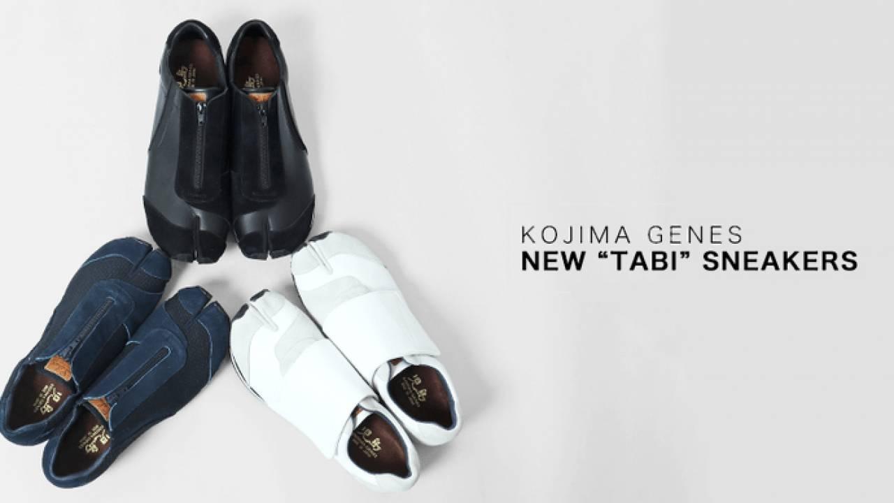 ホワイト素敵だぞ!刺し子生地や牛革を使用したジッパー式の「足袋スニーカー」が登場