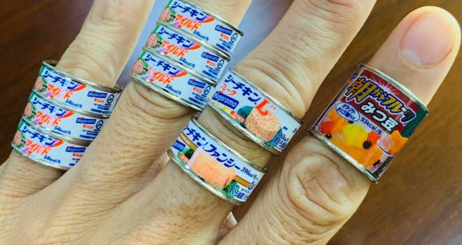 最新作はシーチキン(笑)おなじみの缶詰が指輪に 「缶詰リングコレクション」第2弾が遂に発売へ!