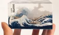 葛飾北斎の名作「富嶽三十六景 神奈川沖浪裏」を超立体で再現したハンドメイド作品が素晴らしすぎる!
