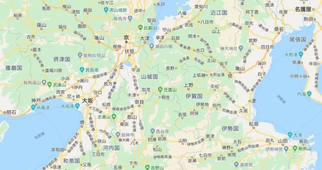 これはたまらん!江戸時代(1840年頃)の大阪・京都周辺をGoogleマップ風にした地図が素晴らしい!