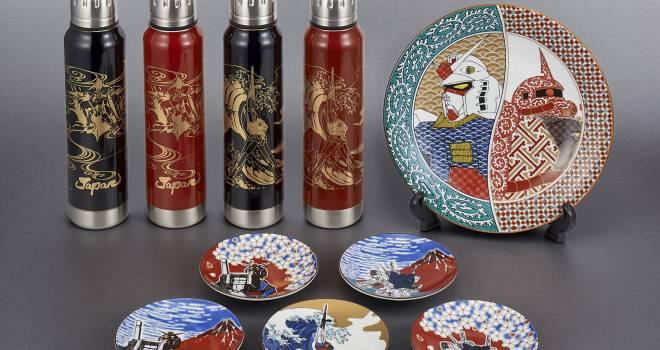 ガンダムが日本の伝統工芸とコラボ!越前漆器サーモボトルや九谷焼の豆皿が誕生