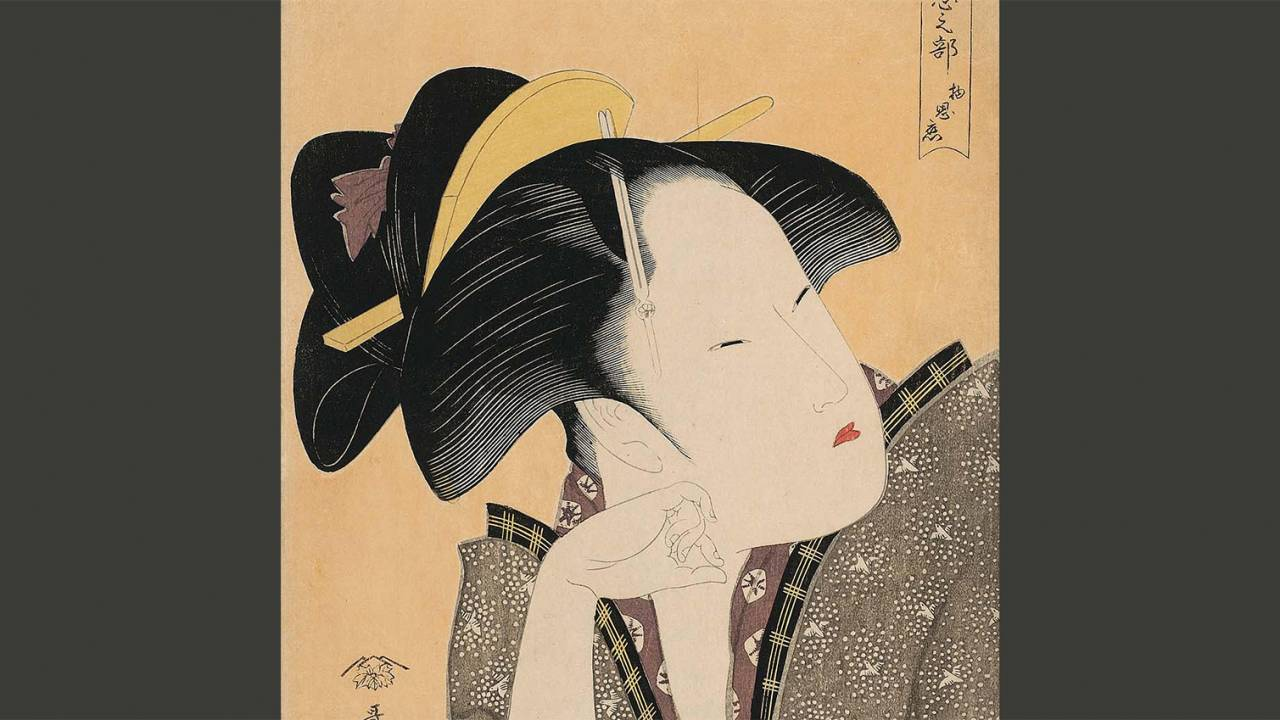 女性の髪形やお化粧に注目!浮世絵の楽しみ方を恋をテーマにした作品で紹介します