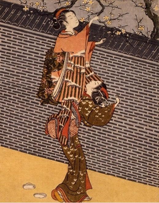 鈴木春信《梅の枝折り》1767-68頃