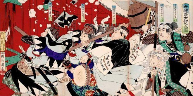 吉良邸討ち入り。二代目山崎年信画、1886年