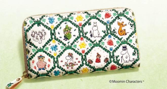 ムーミンに登場する16ものキャラクターがあしらわれた浅草文庫の長財布が新登場!