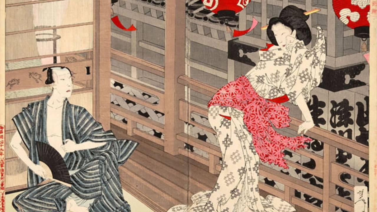 """最後の浮世絵師""""血みまれ月岡芳年""""は大奥と歌舞伎界の大事件「絵島生島事件」をこう斬った!"""