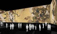 写真撮影可!北斎、広重、宗達、光琳…45mの巨大スクリーンで巨匠作品に迫るデジタルアート展が開催