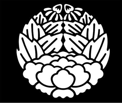 杏葉牡丹の紋