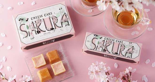 モガなパッケージが素敵♡資生堂パーラーから「春のチーズケーキ(さくら味)」が発売