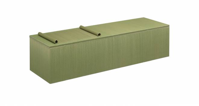 い草の香りに包まれて…。純国産い草を全面に使用した世界初の棺桶「みどりのお棺」発売