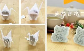 写真撮りたくなっちゃう☆折り鶴や招き猫がモチーフのティーバッグが素敵!