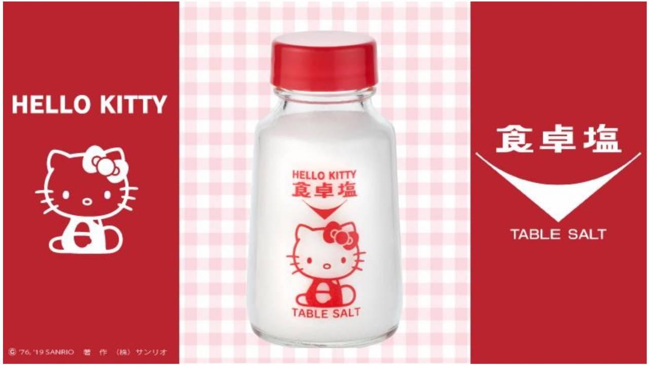 ボトルがキュート♡ハローキティと食卓塩が異色コラボした「HELLO KITTY 食卓塩」