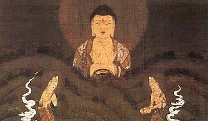 絹本著色山越阿弥陀図 (京都府 禅林寺所蔵)
