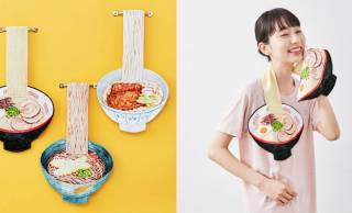 天ぷらそば、きつねうどんなどを再現した「食欲そそる麺タオル」の突き抜け感よ(笑)