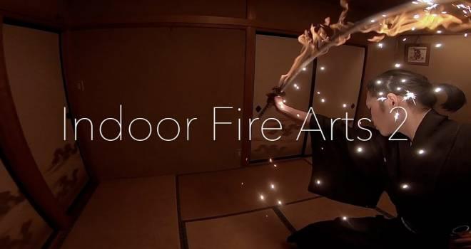 火炎に包まれた日本刀での炎舞が幻想的で美しい!