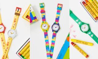 ノスタルジックで可愛い!サクラクレパスの人気文具パッケージをデザインした腕時計が新発売