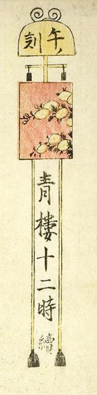『青楼十二時 午の刻』(部分) 画:喜多川歌麿 出典:シカゴ美術館