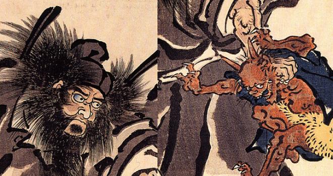 端午の節句でたまに見かけるヒゲおじさんの五月人形「鍾馗」とはいったい何者?