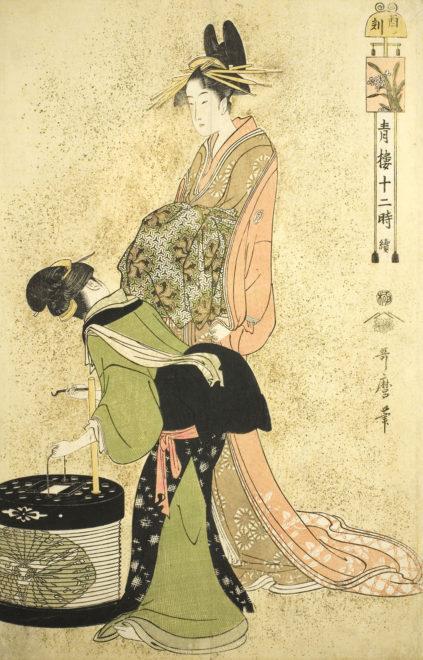 『青楼十二時 酉の刻』画:喜多川歌麿 出典:シカゴ美術館