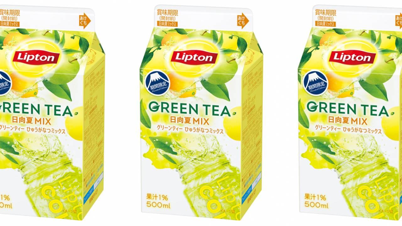 紅茶のリプトンから緑茶ベースのフルーツティー「リプトン グリーンティー 日向夏ミックス」登場