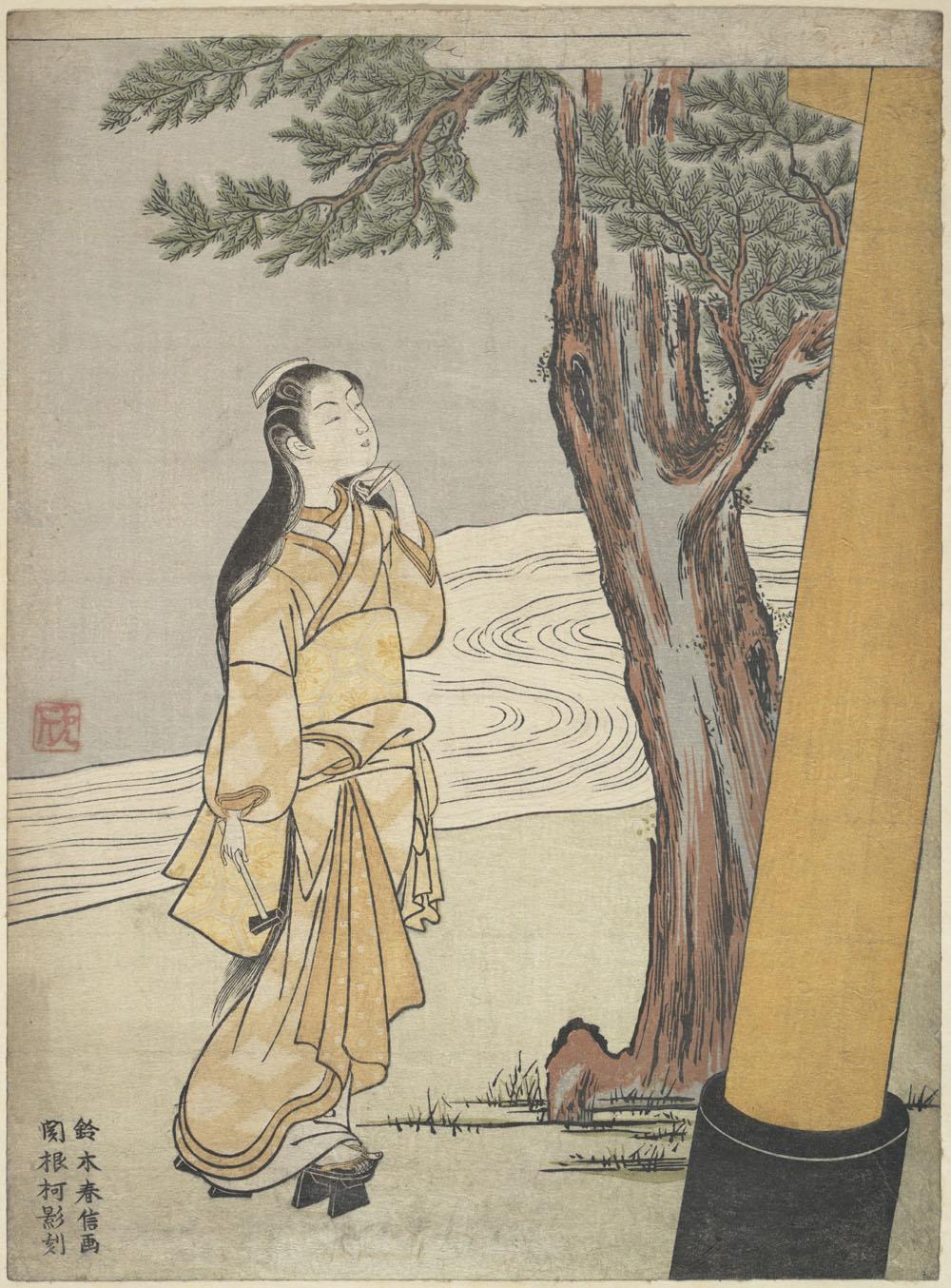 「丑の時参り」画:鈴木春信 出典:メトロポリタン美術館