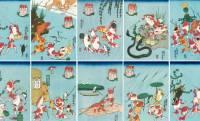 金魚の擬人化、可愛いよ♡歌川国芳の浮世絵「金魚づくし」が無料のスマホ用壁紙になりました!