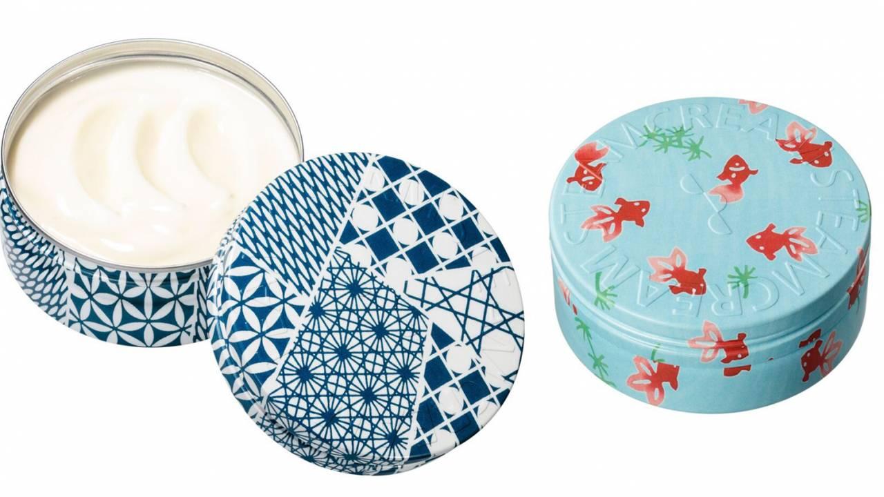 スチームクリームから日本の伝統美を感じる切子文様のデザイン缶が新発売!金魚柄もあるよ♡