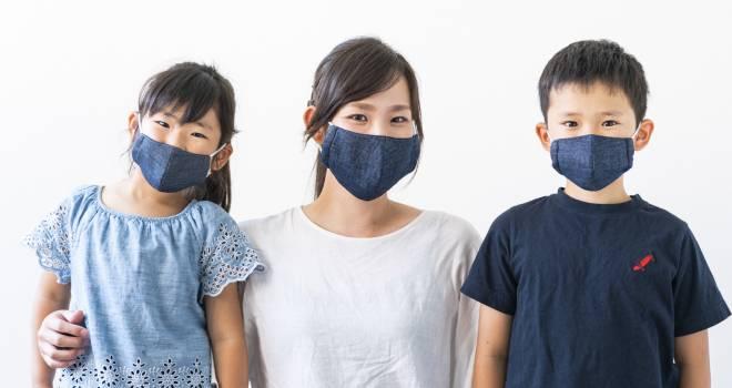 夏場でも涼しく快適!岡山県の高級デニム生地を使用した「岡山デニムマスク」が発売