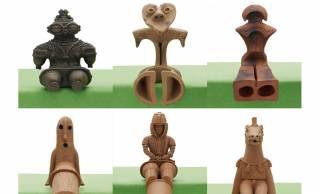 ちょwww 座ってる(笑)考古学ファン感涙のミニフィギュア「座る土偶と埴輪」が可愛いよー!