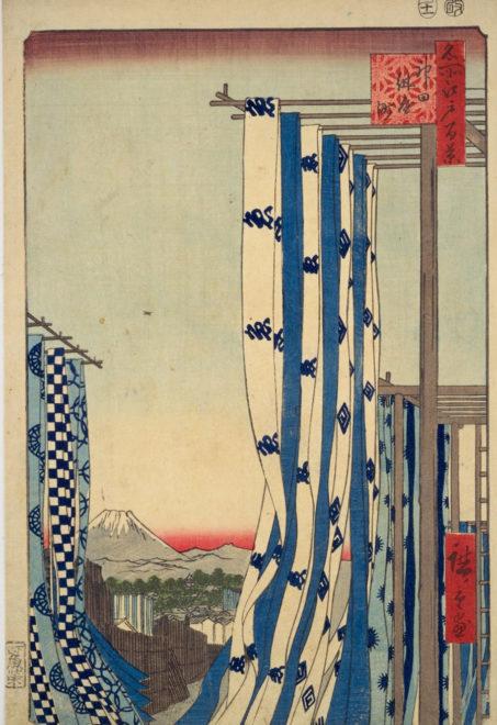 名所江戸百景 神田紺屋町 画:歌川広重 国会図書館デジタルコレクション