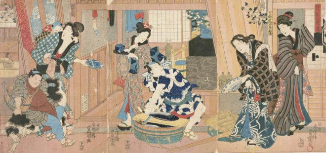 卯の花月 画:豊国 出典:都立中央図書館