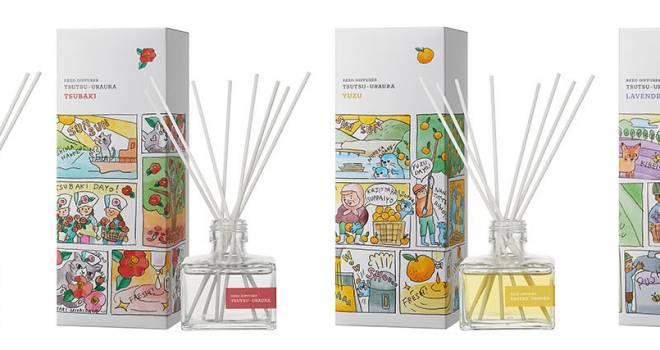 お部屋にいながら旅気分♪日本各地の特産品・観光名所の香りがテーマのルームフレグランス「つつうらうら」