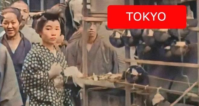 大正時代の日本のモノクロ映像をAI技術で4Kカラー映像化させた作品が超感動もの!60fpsでヌルヌル動く!