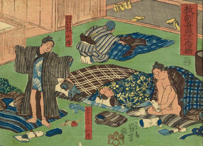 「教訓善悪子僧揃 」 画;歌川国芳 国立国会図書館