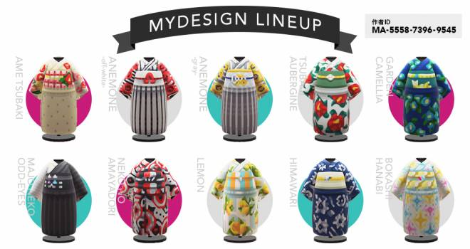 人気ブランド「ふりふ」のオリジナル浴衣が「あつまれどうぶつの森」マイデザインとして公開されたよ!