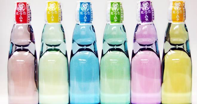 野菜や花から抽出した天然色素を使った6色の幻想的な「虹色ラムネ」