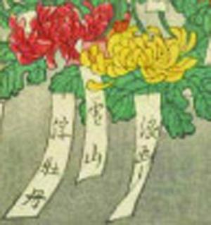 風俗吾妻錦絵 百種接分菊 画:一勇斎国芳(部分)