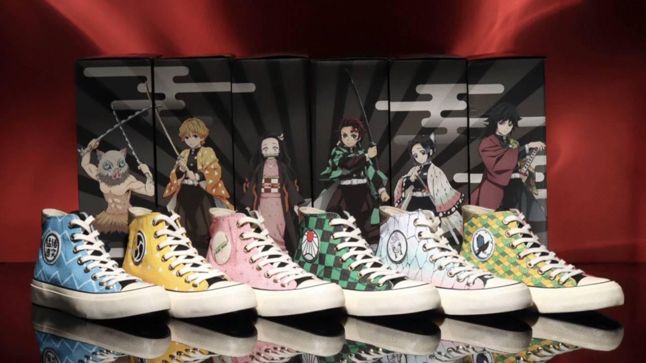 人気アニメ「鬼滅の刃」のキャラクター衣装をモチーフにしたスニーカーがatmosから登場!