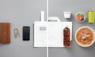 小さな手提げ袋がレジ袋に変身!中川政七商店が2way利用できる「コンビニエコバッグ」を発売